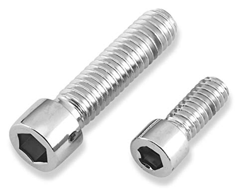 Gardner-Westcott Chrome Polished Socket Head Sprocket Bolts - 7/16in.-14 x 1-1/2in. (Gardner Westcott Bolts)