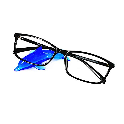 (Computer Reading Glasses Blue Light Blocking Reader Gaming Screen Digital Eyeglasses Anti Glare Eye Strain Transparent Lens UV Light Weight for Women Men (Gloss Black,)