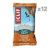 CLIF BAR - Sweet & Salty Energy Bar - Caramel Toffee Flavor with Sea Salt - (2.4 Ounce Protein Bar, 12 Count)