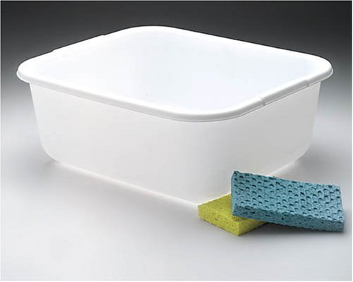Rubbermaid 2951ARWHT 11.4 Quart White Rectangle Dishpan (Rubbermaid Sink Dish Twin)