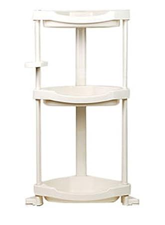 Amazon.com: Bathroom Corner Shelf stand 3 Tier 3 Layers Storage ...
