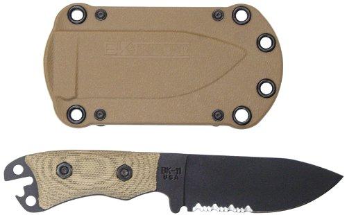 Ka-Bar Becker Necker BK11 Serrated Blade Knife, Outdoor Stuffs