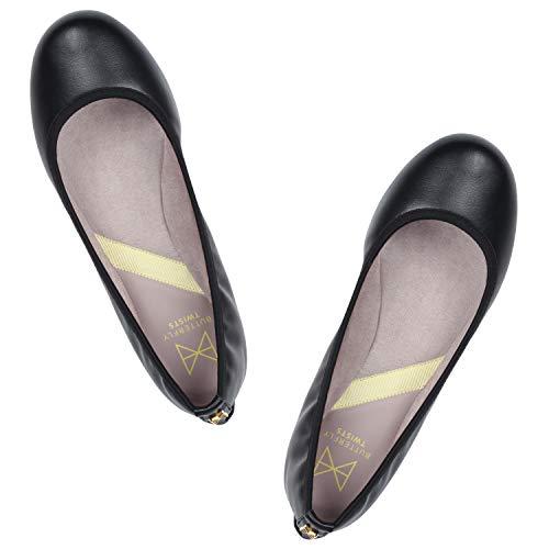 Eu Twists Sophia Punta 5 Chiusa black Ballerine Butterfly Donna 39 BUwqSUz