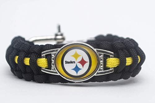 Swamp Fox Pittsburgh Steelers Football Team Adjustable Paracord Bracelet ()