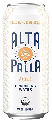 Alta Palla Organic Sparkling Water, Peach, 12 Count, 16 fl (Peach Water)