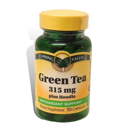 Spring Valley - Thé vert 315 mg de Hoodia De plus, 70 Capsules