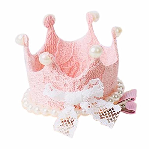 [Pearl Crown Lace Toddlers Girls Party Princess Hairpin Tiara Accessories by FEITONG] (Watermelon Toddler Costume)