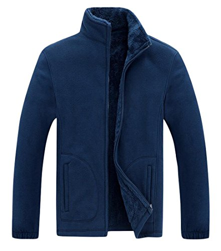 Stand Blue Warm Collar Dark amp;W M Sweater Zipper Men's amp;S Jacket Coat WwqFwaA