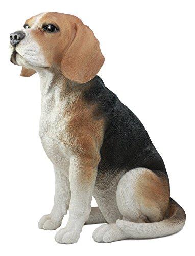 Ebros Large Lifelike Realistic Classic Tri Colored Beagle Dog Statue 14.5