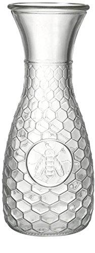 Circleware Garden Gate Honey Bee, 1 Liter Glass Water Drink Pitcher Carafe from Circleware