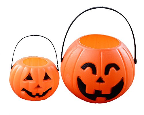 Foam Plastics Pumpkin Pail (2 Big +2 Small)