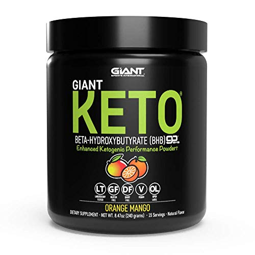 Giant Keto-Exogenous Ketones Supplement - Beta-Hydroxybutyrate Keto Powder Designed to Support Your Ketogenic Diet, Boost Energy and Burn Fat in Ketosis - Orange Mango - 15 Servings ...