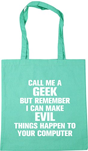 Shopping HippoWarehouse happen x38cm 10 Mint to your but can things remember me a Tote evil computer Bag i litres Gym 42cm Beach geek make Call 4xw4qar