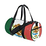 Distressed Mexico Flag Travel Duffel Shoulder Bag ,Sports Gym Fitness Bags