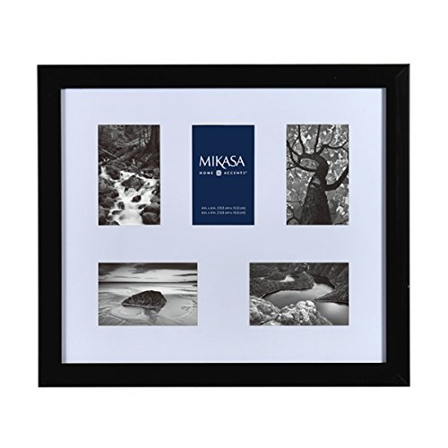 Mikasa 5-Opening Shadowbox Collage, 16 by 20-Inch, Black by Mikasa