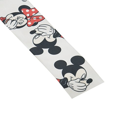 Offray Minnie Mouse Craft Ribbon, 1 1/2-Inch by 9-Feet, Minnie & -