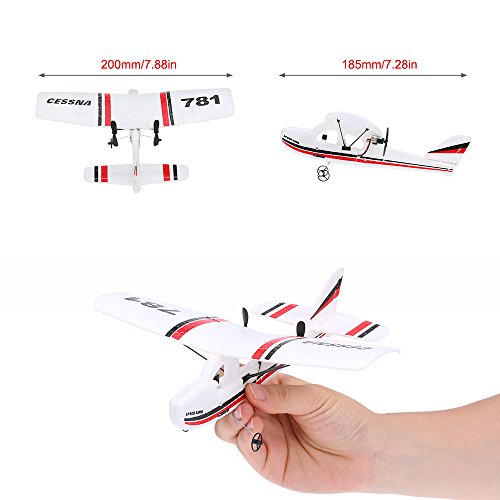 VolantexRC TW-781 Cessna 2.4G 2CH RC Airplane 200mm Wingspan Mini EPP Infrared Remote Control Indoor Drone Aircraft RTF