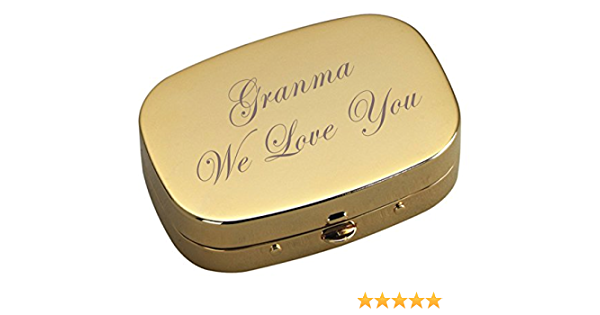 Mint Coworker Gift P105 Pill Container Compact Personalized Pill Box Monogram Pill Case Gift for Her Trinket Box Supplement Organizer