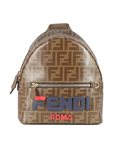 Fendi Women's 8Bz036a5n7f1562 Brown Leather Backpack ()