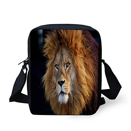 WEKJNskeee Lion Predator Dangerous Mane Custom Crossbody Messenger Bag Shoulder Tote Sling Postman Bags One Size