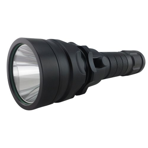AUBIG CREE XM-L T6 LED Flashlight Dimmable Torch 10m Waterproof 1200lm 18650 Rechargeable Battery US Plug Charger