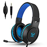 Xbox One Headset,Rodicoco PS4 Gaming Headset Bass Surrounding Stereo Sound Over Ear Headphone with Noise Cancelling Microphone, Volume Control for Nintendo Switch,PS3,PS4,Xbox One,iPad,PC,Laptop