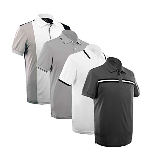 Albert Morris Polo Shirt Men 4 Pack - Ivy League Pack, Short Sleeve (Large)