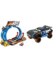 Cars XSR - Pack Pista de coches Superlooping + Vehículo XSR Jackson Storm