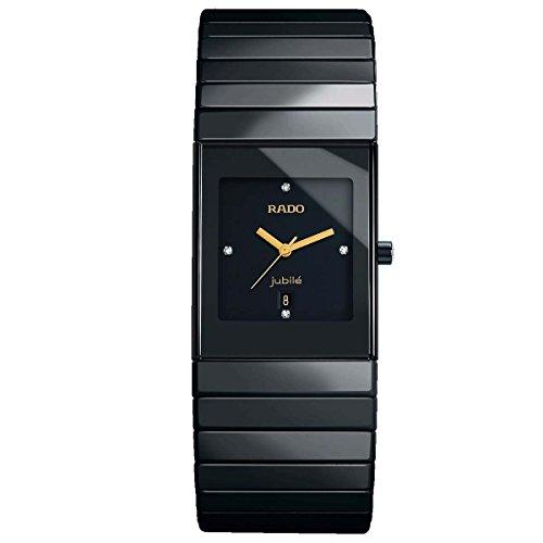 Rado Ceramica R21347742 27X32mm Diamonds Ceramic Case Black Ceramic Synthetic Sapphire Women's Watch