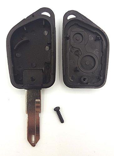 Llave para Peugeot 106,/205,/206,/306,/307,/405,/406,/2/botones hoja agujereada Plip