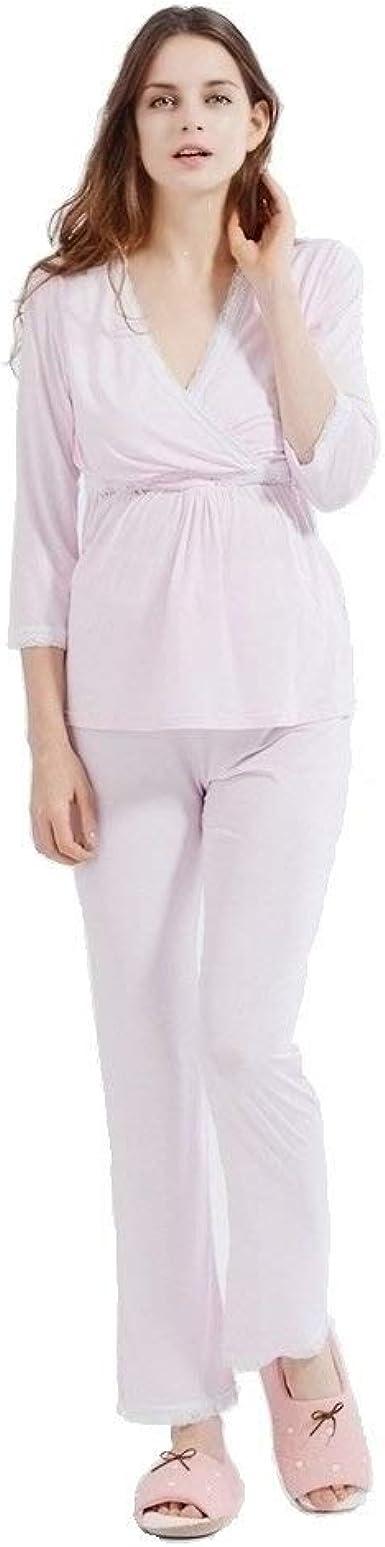 i-baby Camisón Lactancia Conjunto de Pijamas Lactancia Mujer Embarazada de Manga Larga y Pantalon Largo para Premamá Maternidad