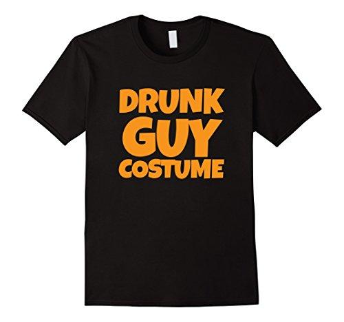 [Men's Drunk Guy Costume Tshirt - Easy Halloween Costume 3XL Black] (Funny Easy Guy Halloween Costumes)