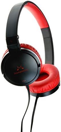 SoundMAGIC Headphones Black Red P21 Black Red