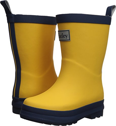 Hatley Kids Classic Rain Boots, Yellow and Navy, 6 M US Toddler - Yellow Kids Poncho