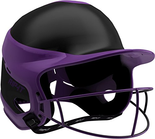 (Rip-It Vision Pro Away Softball Batting Helmet (Away Purple, Small/Medium))