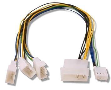 41ZDKdCPgzL._SX355_ amazon com fan splitter 4 pin molex > 3 qty pwm headers 30cm