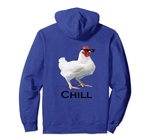 Unisex Chill Chicken . . . Chillkin Hoodie XL: Royal Blue