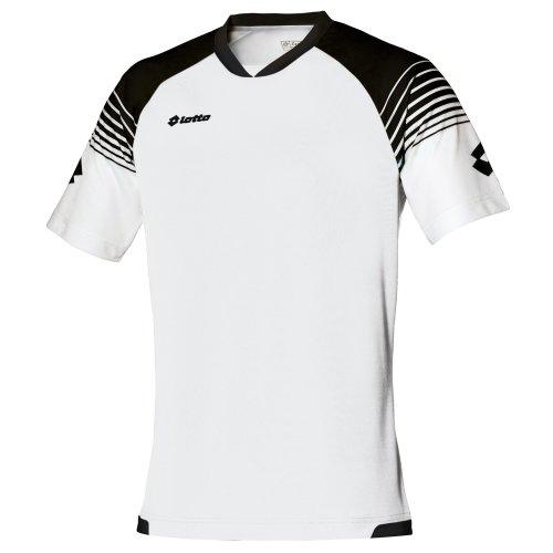 Lotto Mens Football Jersey Omega Sports T-Shirt (L) (White / Black)