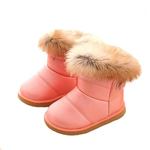 Winter Warm Stiefel Kinder Mädchen Schnee Stiefel Hellrosa