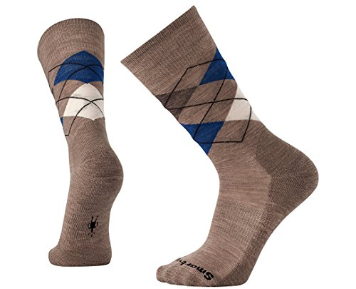 Smartwool Diamond Jim Sock - Men's Fossil Heather - Socks Diamond Men