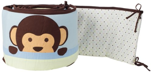 Pam Grace Creations Crib Bumper, Maddox Monkey, Baby & Kids Zone