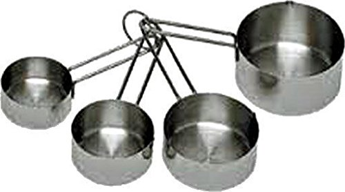 Measuring Cups (Set of 4-Four) Stainless Steel - Kitchen Tools & Gadgets New