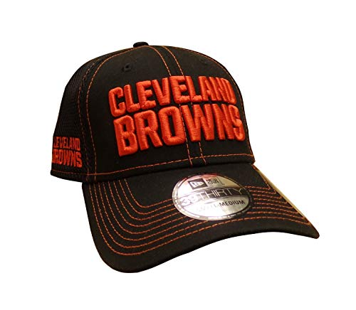 NFL Cleveland Browns Adult Men Shock Stitch Neo 39Thirty Stretch Fit Cap, Medium/Large, Black