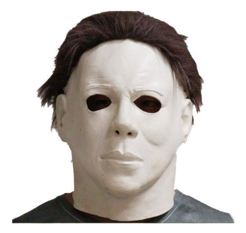 Michael Myers Horror Mask Full Head Deluxe Latex Rubber with Hair Halloween Fancy Dress Costume Masks
