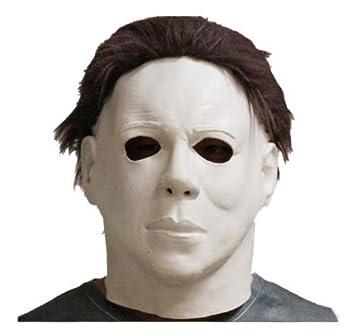 Látex Michael Myers Halloween Horror Máscara Completa Cabeza Película Calidad Con Pelo