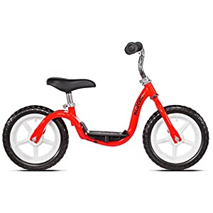 KaZAM v2e No Pedal Balance Bike, 12-Inch, Red