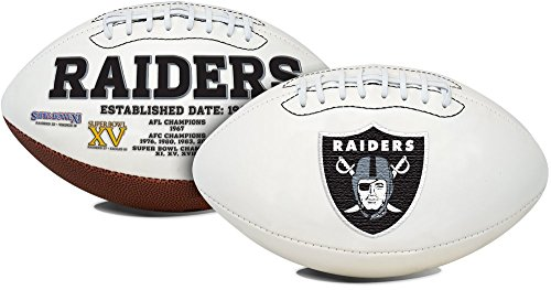 Embroidered Autograph (Oakland Raiders Embroidered Logo Signature Series Full Size Autograph Football)