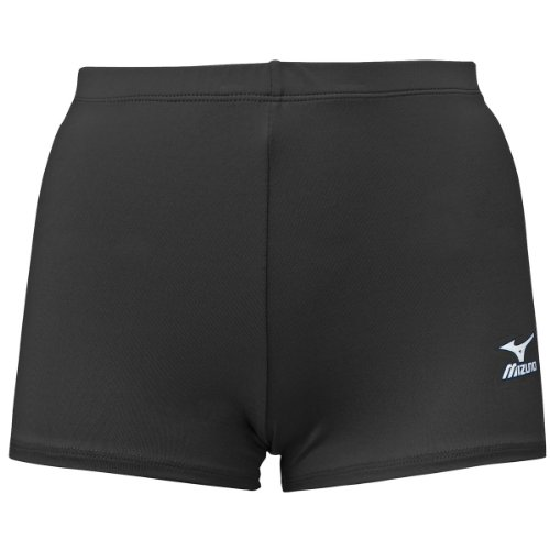 Black Juniors Medium Mizuno Spandex Volleyball Competition Shorts DryLite Polyester Low Rise (Rider Low Shorts Rise)