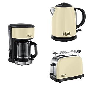 Russell Hobbs  Colours Classic Cream Frühstücksset inkl. Kaffeemaschine,...