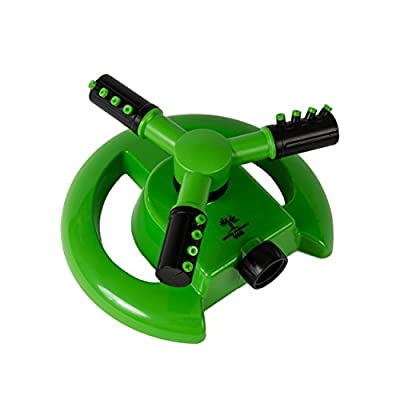 Garden Products USA Three Arm Rotary Sprinkler for Irrigation for Lawns and Gardens, Covers 856 Square Feet (80 Square Meters), 360 degrees for Maximum Coverage